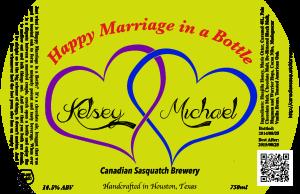 Happy Marriage in a Bottle - Label
